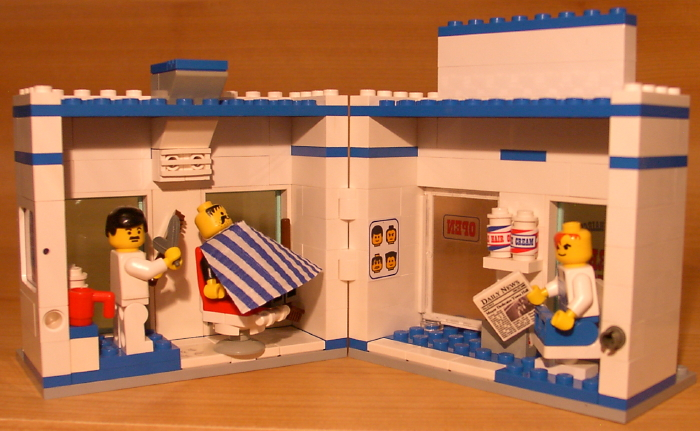 ... BARBER SHOP! set for town/city/trai n/police LEGO hair salon gift lot