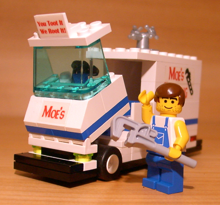 Custom Moe The Plumber Set For Town City Train Lego