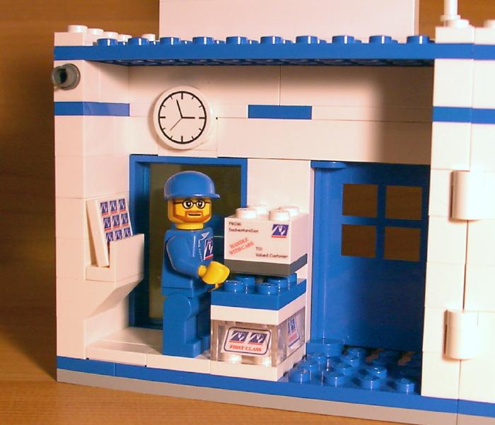 Post Service: CUSTOM POST OFFICE SET For Town/city/train LEGO Postal